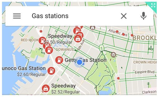 البحث عن أرخص أسعار الوقود في جوجل مابس